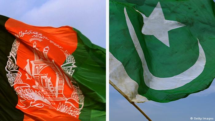 Kombobild Flaggen Afghanistan Pakistan (Getty Images)