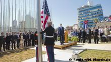 Kuba Havana Wiedereröffnung US-Botschaft Fahne