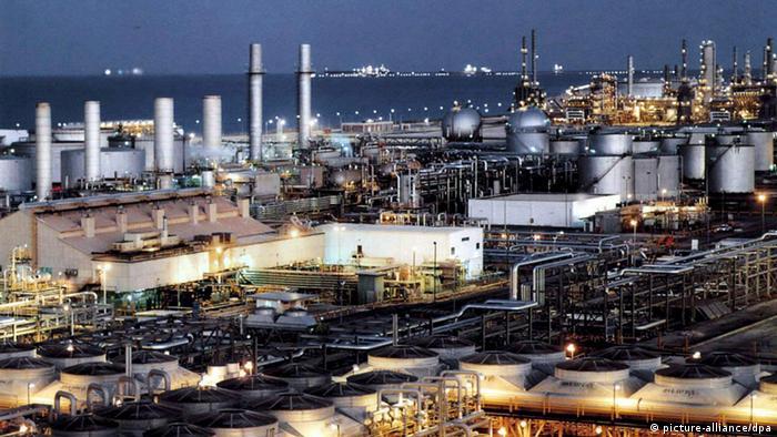 An oil refinery in Saudi Arabia