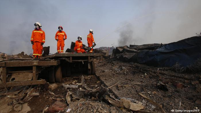 China Tianjin Explosion in Chemie Depot