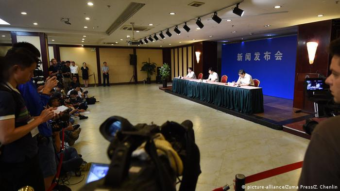 China Pressekonferenz in Tianjin