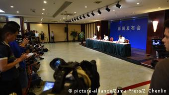 China Pressekonferenz in Tianjin