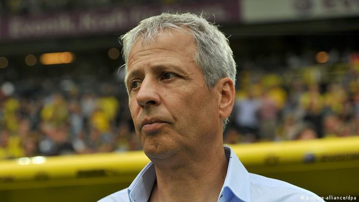 Fußball Bundesliga 1. Spieltag Borussia Dortmund - Borussia Mönchengladbach Trainer Lucien Favre