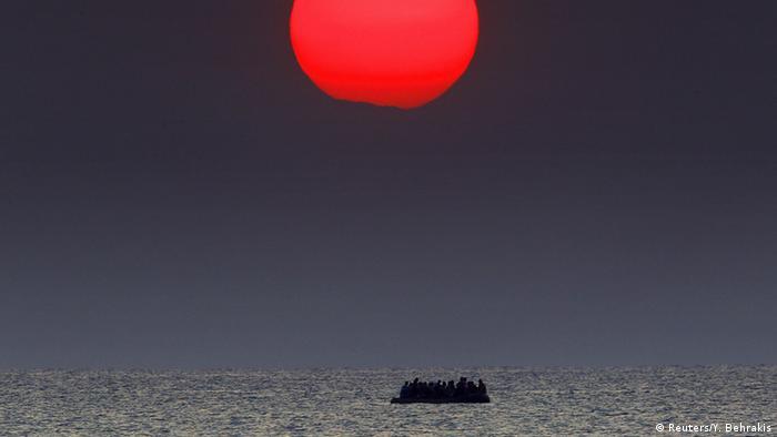 Migration in der Dunkelheit Insel Kos syrische Flüchtlinge