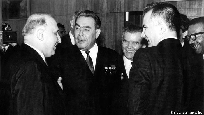 Живков и Брежнев на X-ия конгрес на БКП през април 1973 г. в София