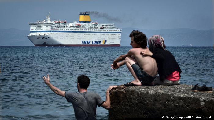 Пором біля острова Кос