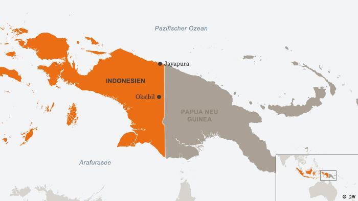Karte Indonesien Papua Jayapura Oksibil Deutsch