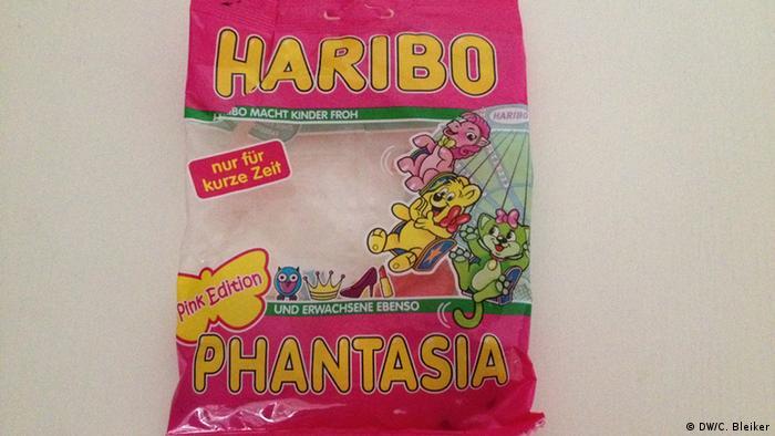 Haribo Tüte der Sorte Phantasia Pink Edition