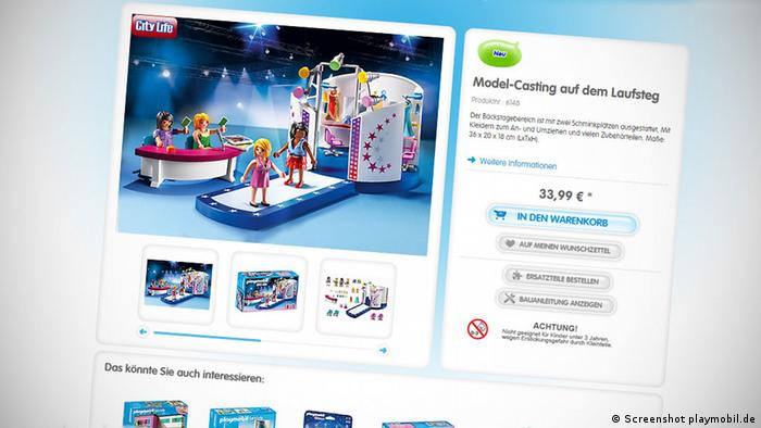Screenshot Playmobil Shop
