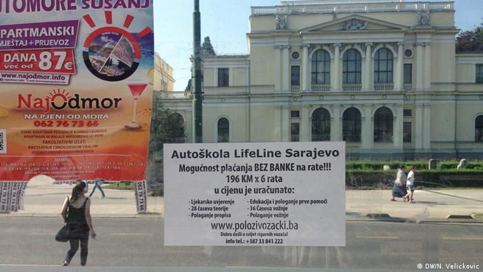 Bosnien und Herzegowina Anzeige in Sarajevo