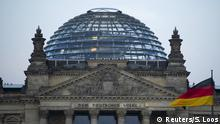 The Reichstag building, the seat of the German lower house of parliament Bundestag