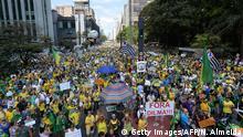 Brasilien Demonstration gegen Regierung Dilma Rousseff