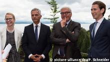 Schweiz Bundesaußenminister Steinmeier zu Besuch in Neuenburg
