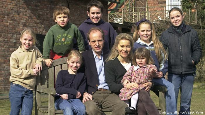 Ursula von Leyen z mężem Heiko i siedmiorgiem dzieci (zdjęcie z 2003 r.)