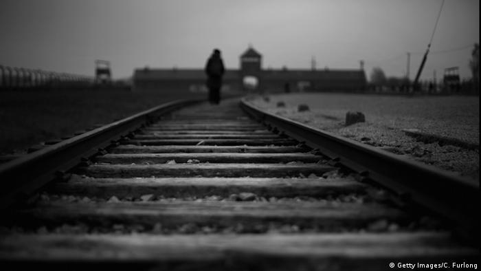 The railway track to the infamous 'Death Gate' at the Auschwitz II Birkenau extermination camp (Getty Images/C. Furlong)