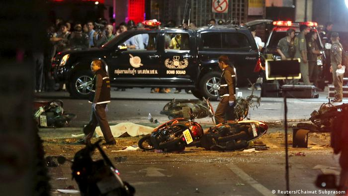 Explosion Bangkok Thailand Bombe Motorrad
