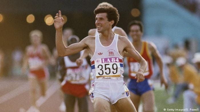 USA Olympische Sommerspiele 1984 Los Angeles Sebastian Coe Olympiasieg 1500m (Getty Images/S. Powell)