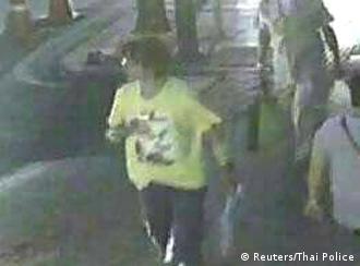 Thailand Anschlag in Bangkok Videoaufnahme des Verdächtigen EINSCHRÄNKUNG