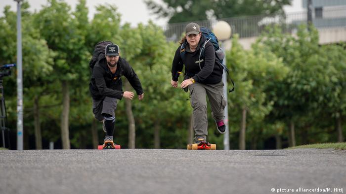 Николь Тцанакис и Корнелиус Кауп, организаторы спортивной акции в поддержку беженцев