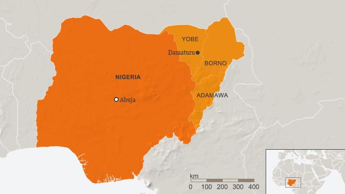 Zona donde se produjo el ataque de Boko Haram