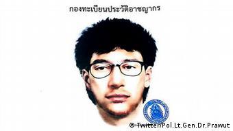 Thailand Polizei veröffentlicht Fahndungsbild nach Bombenanschlag