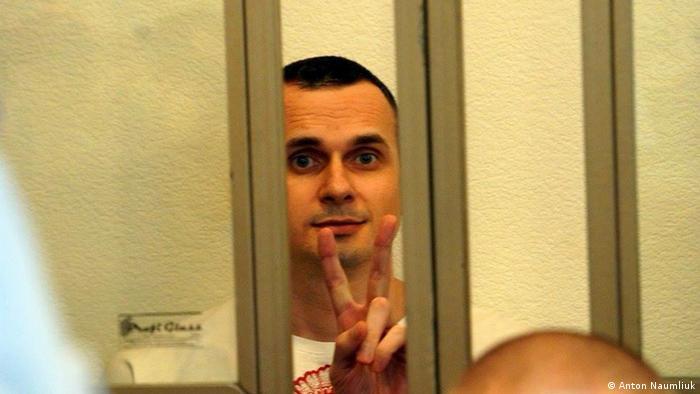 Олег Сенцов во время судебного заседания в Ростове-на-Дону