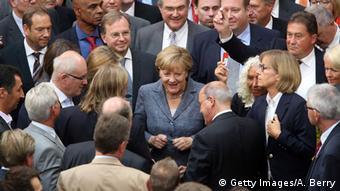 19 Αυγούστου 2015, από την ψηφοφορία για το τρίτο πακέτο στήριξης της Ελλάδας στη γερμανική Βουλή