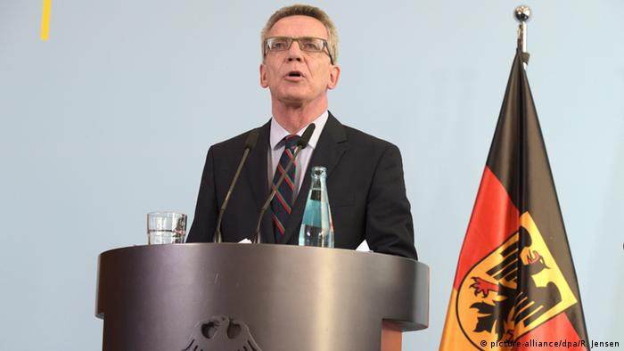 Germany's Interior Minister Thomas de Maiziere said the country will not be able to cope long-term with the current rate of 800,000 refugees a year.