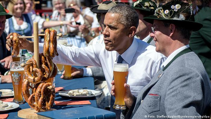Президент США Барак Обама во время саммита G7 в Баварии летом 2015 года