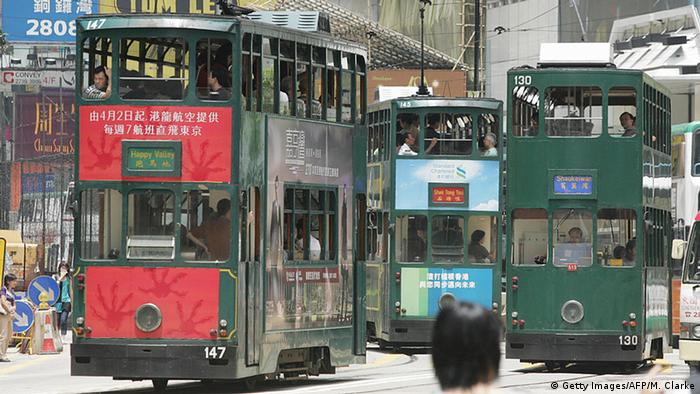 Hongkong Tram Straßenbahn
