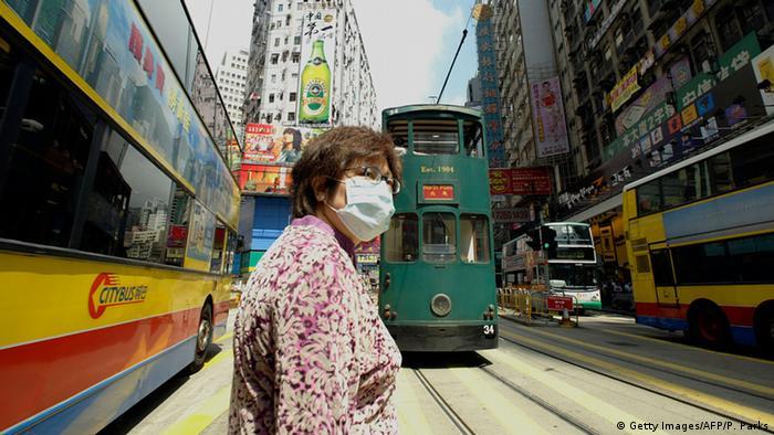 Hongkong, mască de protecţie