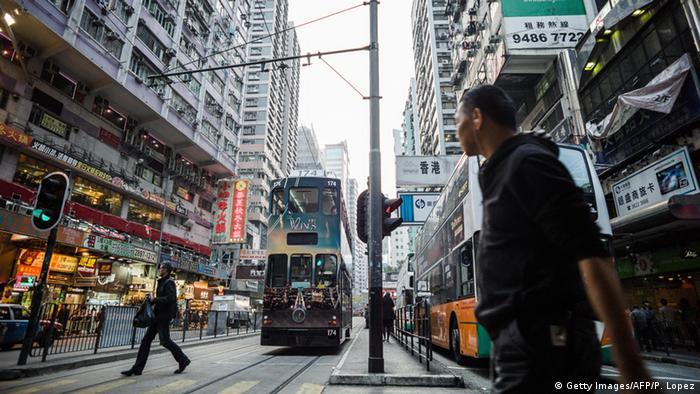 Hongkong Tram Straßenbahn (Getty Images/AFP/P. Lopez)