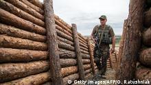 Ukraine Konflikt Donezk Schützengraben Ukrainischer Soldat