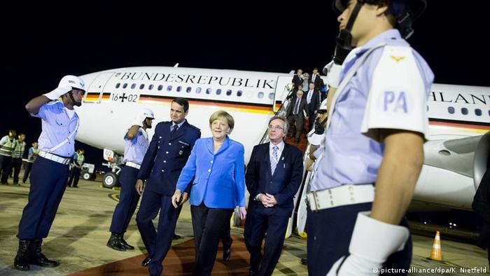 Brasilien Ankunft Angela Merkel in Brasilia