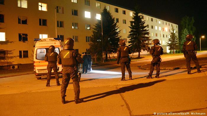 15 people were injured in the refugee brawl in Suhl, Thüringen.