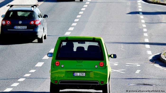Elektroauto Norwegen Taxispur