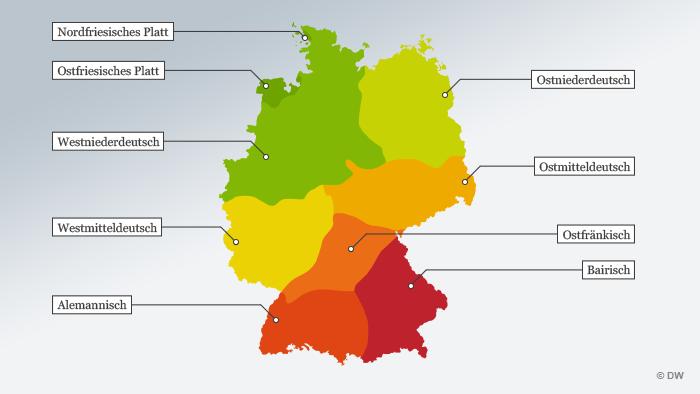 Infografik Dialektatlas Deutschland