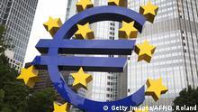 Deutschland EZB Euro Logo in Frankfurt