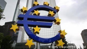 Логотип ЕЦБ во Франкфурте-на-Майне