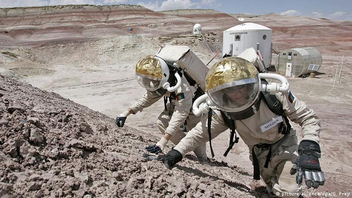 Astronauts in the desert