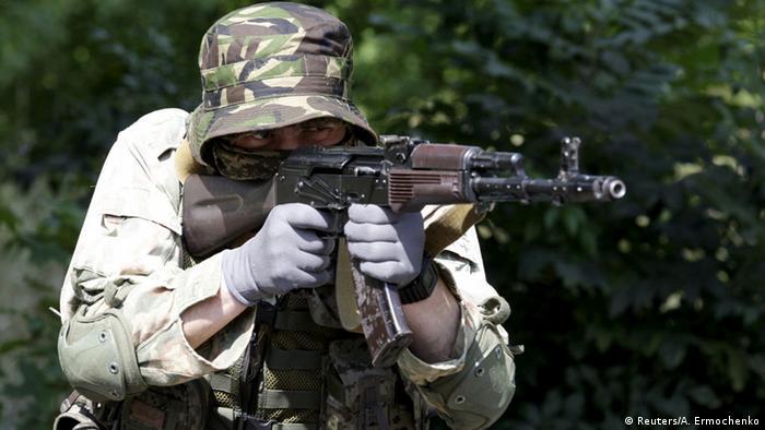 Проросійський бойовик у Донецьку. Фото з архіву (2015 рік)