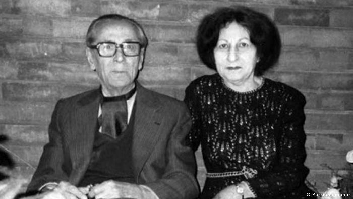 پرویز ناتل خانلری به همراه همسرش، زهرا کیا (خانلری)