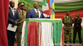 Pierre Nkurunziza at the inauguration ceremony