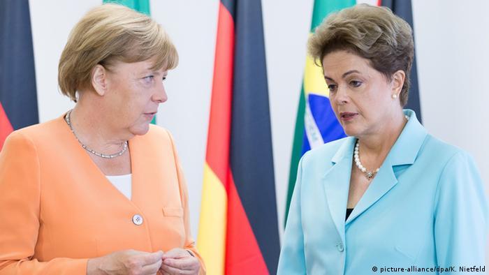 Brasilien Angela Merkel und Dilma Rousseff in Brasilia