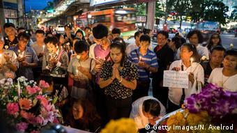Thailand Bombenanschlag Bangkok Trauernde