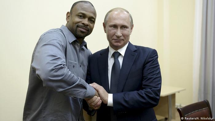 Рой Джонс-младший и Владимир Путин в Крыму