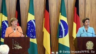 Angela Merkel and Dilma Rousseff in Brazil