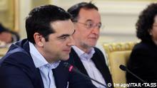 Griechenland Alexis Tsipras und Panagiotis Lafazanis in Moskau