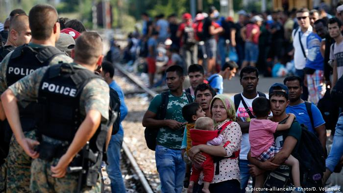 Mazedonien Migrant Chaos