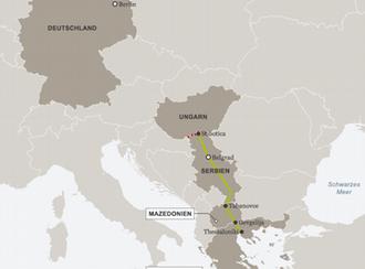 Infografik Karte Flüchtlingsdrama im Balkan Deutsch